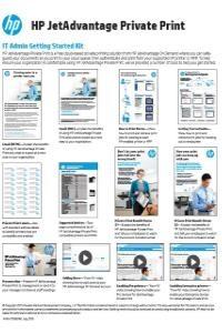 HP Jetadvantage Privat Print IT Admin Start Kit