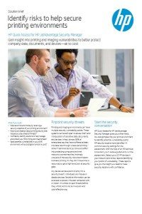 HP Quick Assess for HP JetAdvantage Security Manager