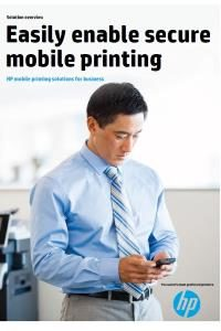 HP mobile printing solutions for business