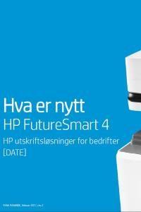 Hva er nytt - HP FutureSmart4