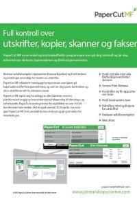 PaperCut MPF Brochure Norwegian