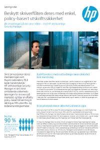 HP JetAdvantage Security Manger
