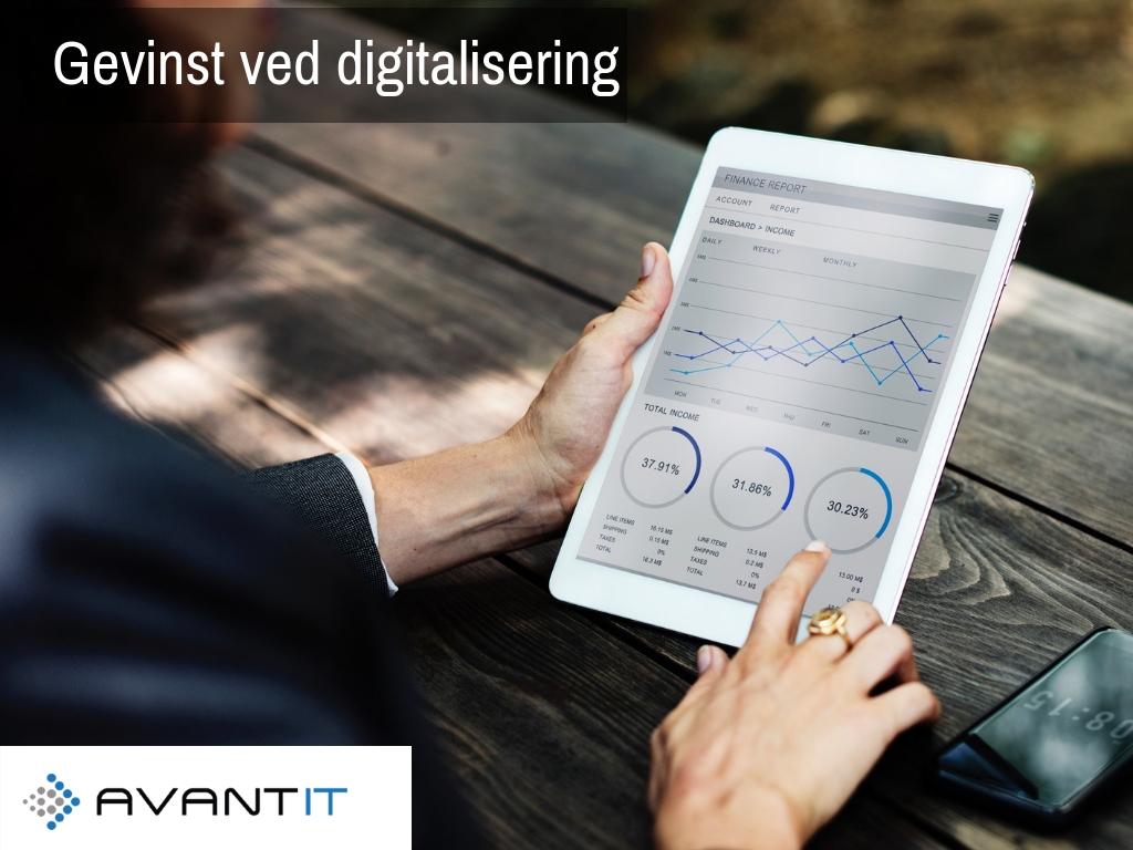 Gevinst ved digitalisering