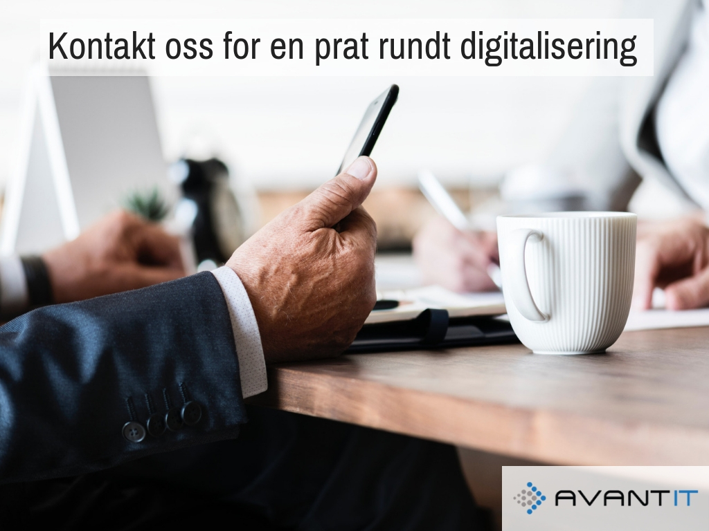 Kontakt Oss for en prat rundt digitalisering