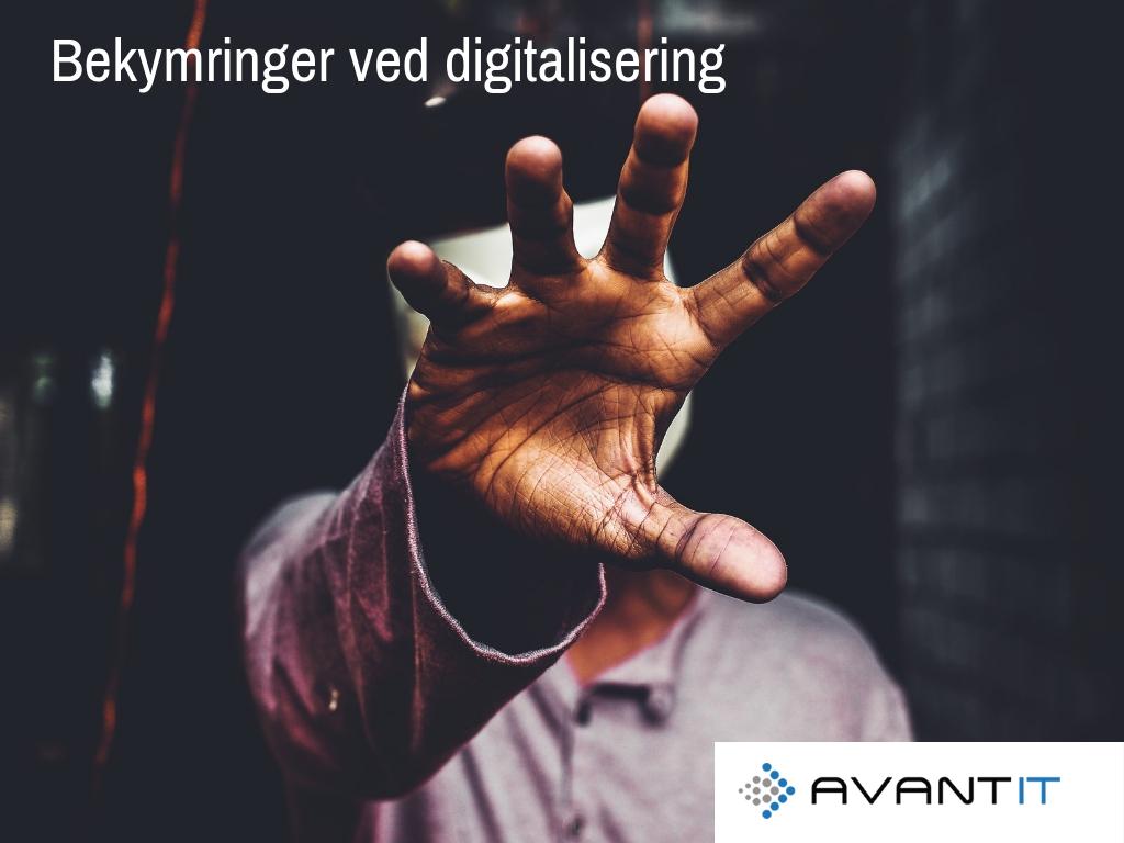 Typikse bekymringer ved digitalisering